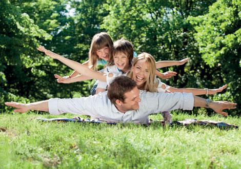 famiglia benessere in primavera