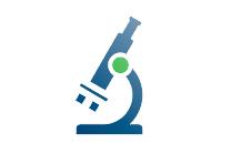 logo microscopio laboratorio cosmetico