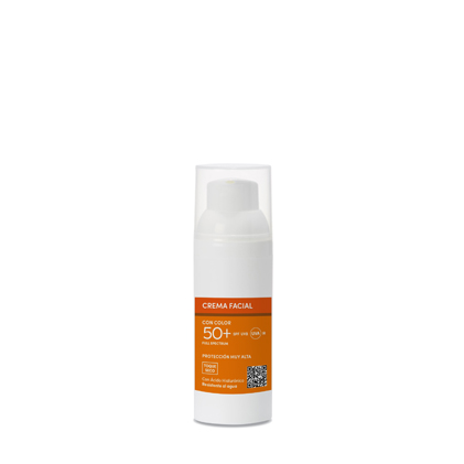 CREMA FACIAL CON COLOR SPF 50 +